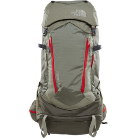 The North Face Terra 65 Zaino rosso/verde oliva